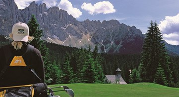 Sosta golfistica campo Golf Club Carezza
